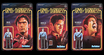 Army of Darkness ReAction – Action Figures Retro do Filme Uma Noite Alucinante III de Sam Raimi
