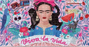 Quebra-Cabeça Frida Kahlo Viva La Vida com 1.000 Peças