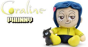 Boneca de Pelúcia Coraline PHUNNY (Versão Menina) do Filme de Henry Selick e Neil Gaiman