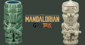 Canecas Geeki Tikis Star Wars The Mandalorian: Mando e IG-11