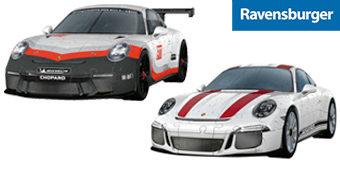 Quebra-Cabeças 3D Porsche 911 R e Porsche GT3 Cup