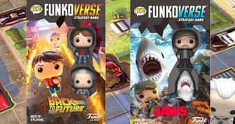 Jogos de Tabuleiro Pop! Funkoverse: Tubarão e De Volta para o Futuro