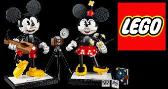 LEGO Mickey Mouse e Minnie Mouse com 1.739 Peças