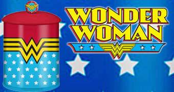 Pote de Cookies Wonder Woman Stars and Stripes (Mulher Maravilha)