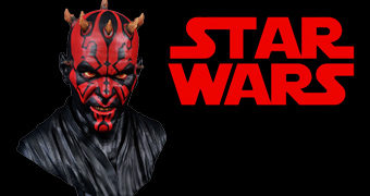 Busto Darth Maul Star Wars Legends in 3D em Escala 1:2