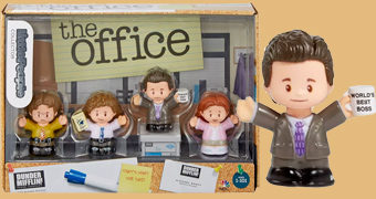 Bonecos The Office Little People Fisher-Price com Michael, Dwight, Pam e Jim