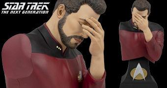 """Busto Comandante Riker """"Facepalm"""" (Star Trek A Nova Geração)"""