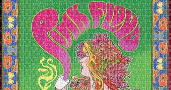 """Quebra-Cabeça Pink Floyd """"Marquee Club 1966"""" Pôster Bob Masse Psicodélico com 1.000 Peças"""