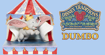 Estátua Disney Traditions: Dumbo Levantando Voo da Tenda do Circo por Jim Shore