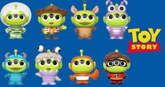 Toy Story 25 Anos Mystery Minis com Alien de Três Olhos Fantasiado de Personagens da Pixar – Mini-Figuras Funko Blind-Box