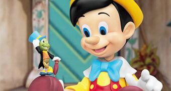 Pinóquio e Grilo Falante Master Craft – Estátua de Luxo Beast Kingdom Disney