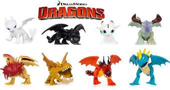 Mini Dragões DreamWorks Dragons (Como Treinar o Seu Dragão)