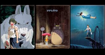 """Quebra-Cabeças de 6 Filmes de Hayao Miyazaki no Estilo """"Artboard Canvas Puzzle"""""""