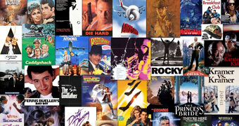 """Quebra-Cabeça """"Going to The Movies"""" com 1.000 Peças e Mais de 40 Pôsteres de Filmes dos Anos 70 e 80"""