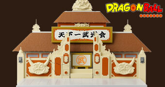 Playset Templo do Torneio Mundial de Artes Marciais de Dragon Ball