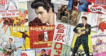 """Quebra-Cabeça Elvis Presley """"Movie Posters"""" com 1.000 Peças (Dia Mundial do Rock)"""