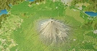 Monte Fuji e os Cinco Lagos – Modelo 3D em Papel