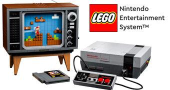 LEGO Nintendo Entertainment System (NES) e Televisão de Tubo com 2.646 Peças