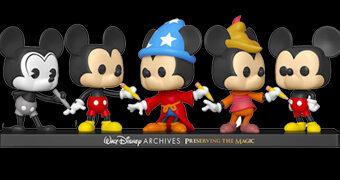 Bonecos Pop! Mickey Mouse em Comemoração aos 50 Anos do The Walt Disney Archives