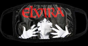 Máscaras de Tecido Elvira, a Rainha das Trevas para Se Prevenir Contra o COVID-19 em Grande Estilo