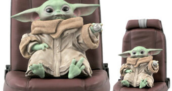 Baby Yoda na Cadeira da Razor Crest – Estátua Star Wars: The Mandalorian Premiere Collection (Diamond Select Toys)