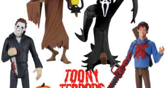 Toony Terrors: Creep, Ash, Michael Myers e Ghostface no Estilo Desenho Animado