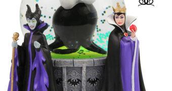 Globo de Neve Vilãs Disney: Úrsula, Malévola e Rainha Má