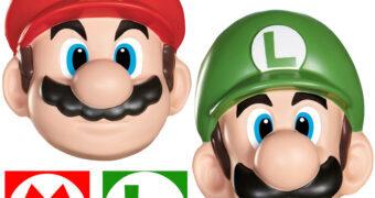 Máscaras dos Irmãos Mario e Luigi para Se Fantasiar ou Pendurar na Parede