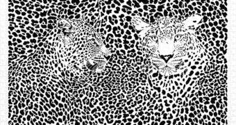 """Quebra-Cabeça Leopardos """"Extreme Puzzle"""" em Preto e Branco com 1.000 Peças de Plástico"""