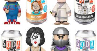 Novos Bonecos Funko Vinyl SODA: Chucky, Kiss (Starchild), Shredder (TMNT) e Samurai Jack