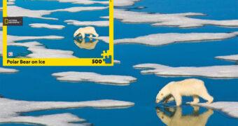 Quebra-Cabeça National Geographic Urso Polar no Gelo com 500 Peças