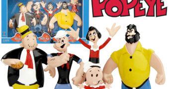 Bonecos Flexíveis Marinheiro Popeye Bendable Figures
