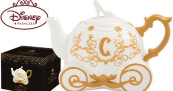 Bule de Chá Carruagem Mágica da Cinderella