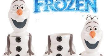 Pote de Cookies Boneco de Neve Olaf da Série de Filmes Frozen da Disney
