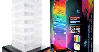 Jogo JENGA Glowblocks Blocos Iluminados com LEDs Coloridos