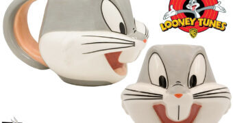 Pernalonga 80 Anos: Caneca Bugs Bunny Face 3D (Looney Tunes)