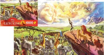 """Quebra-Cabeça O Rei Leão """"Disney Fine Art"""" com 1.000 Peças"""