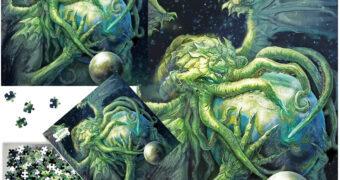 Quebra-Cabeça Cthulhu Rising por Eddie Sharam com 1.000 Peças – 130 Anos de H.P. Lovecraft