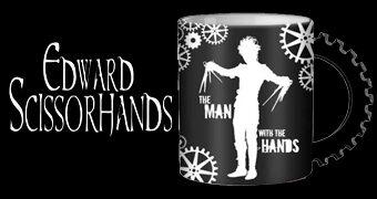 Caneca Edward Mãos de Tesoura de Tim Burton