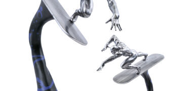 Estátua Surfista Prateado (Silver Surfer) Marvel Premier Collection da Diamond Select