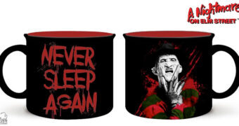 "Caneca Freddie Kruger ""Never Sleep Again"" (A Hora do Pesadelo)"