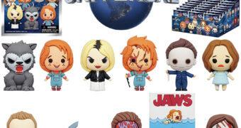 Mini-Figuras Universal Vault Horror Figural Bag Clips com Chucky, Lobisomem Americano, Shaun, Tubarão, Halloween e Eles Vivem (Blind-Bag)