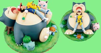 Boa Noite Snorlax – Incrível Estátua Pokémon G.E.M. Series da MegaHouse