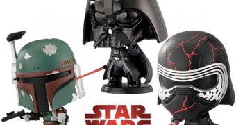 """Mini-Figuras Star Wars """"Capchara Capsules"""": Darth Vader, Boba Fett e Kylo Ren"""