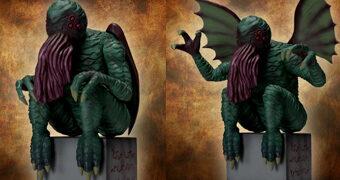 Cthulhu Inspirado em Desenho Original de H.P. Lovecraft