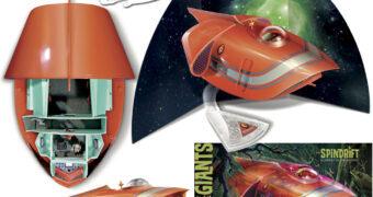 Kit Plástico da Nave Espacial Spindrift da Série Clássica Terra de Gigantes em Escala 1:64