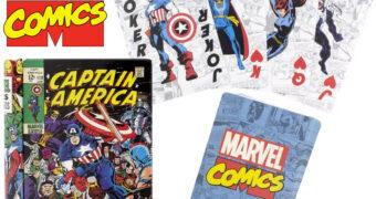 Baralho Marvel Comics em Lata de Revista em Quadrinhos