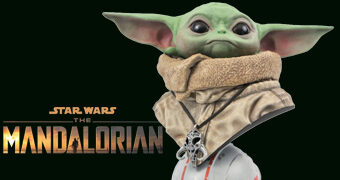 Busto Baby Yoda Legends in 3D em Escala 1:2 (Star Wars: The Mandalorian)