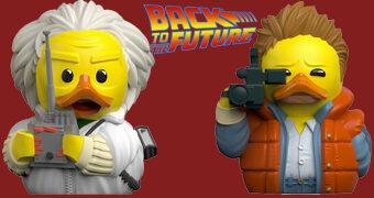 Patinhos de Borracha De Volta para o Futuro Cosplay: Marty McFly e Doc Brown