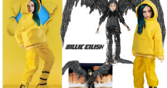 "Figuras Billie Eilish In-Video Series: ""Bad Guy"" Fashion Doll e ""All The Good Girls Go To Hell"" Collectible Figure"